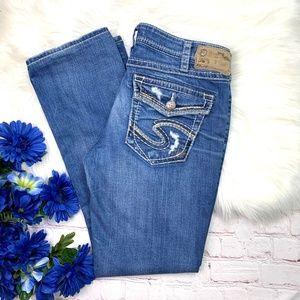 👖I•SILVER•I Aiko Mid Straight Jeans 30x30 👖
